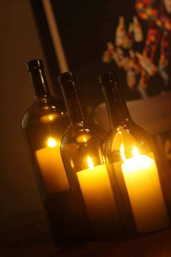Decorate pillar candles