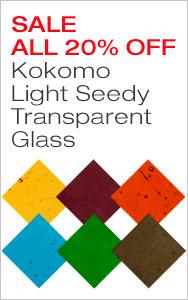 20% Off Kokomo Seedy Transparent Glass