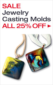 Make Incredible Cast Glass Jewelry with 25% Off Molds