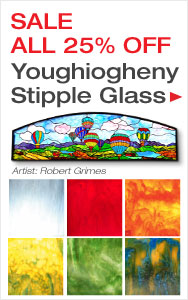 25% Off Youghiogheny Stipple Glass