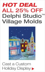 25% Off Village Molds