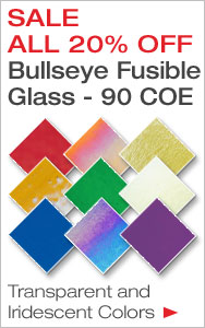 20% Off Bullseye Glass