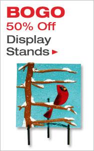 BOGO 50% Off Display Stands