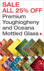 25% Off Youghiogheny and Oceana Mottled Glass