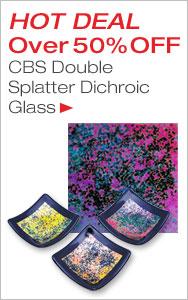 HOT DEAL Double Splatter Dichroic Glass
