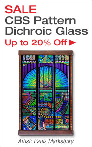 Save on CBS Pattern Dichroic Glass