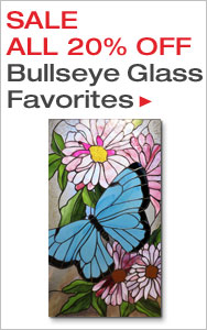 20% Off Bullseye Stained Glass Favorites