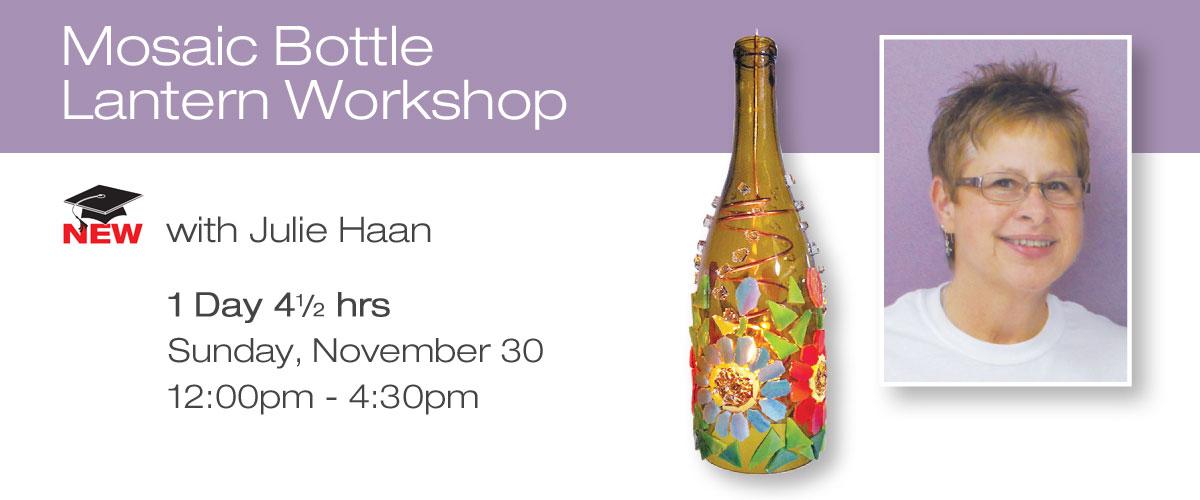 Mosaic Bottle Lantern Workshop