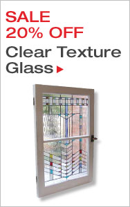 20% Off Clear Texture Stained Glass