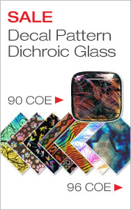 Add Brilliance with Decal Pattern Dichroic Glass