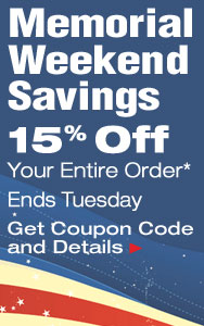 Memorial Weekend Savings
