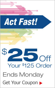 Act Fast! $25 Off Your Order
