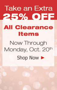 25% Off Clearance Sale