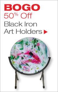 BOGO Black Iron Art Holders