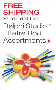 FREE Shipping Delphi Studio Effetre Rod Assortments