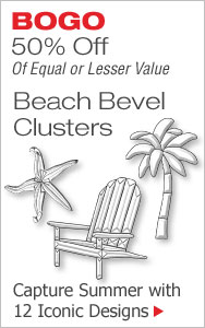 BOGO 50% Off Beach Bevel Clusters