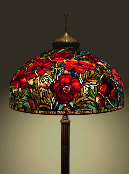 Oriental Poppies Lamp