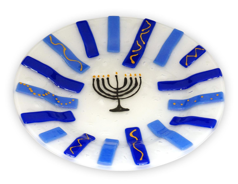 Hanukkah Menorah Plate