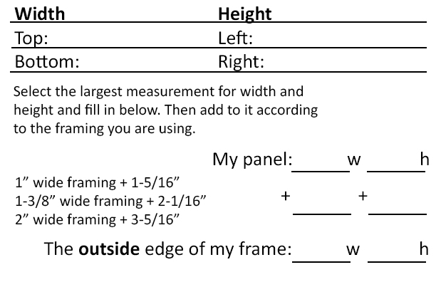 measure your framing stock