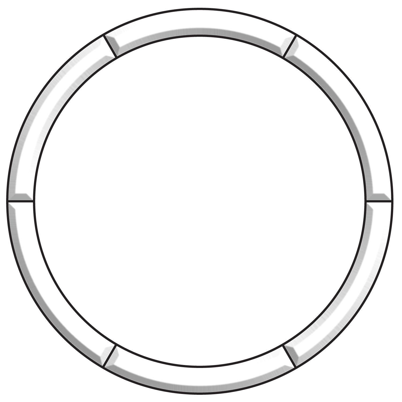 20 Circle Frame Bevel Cluster