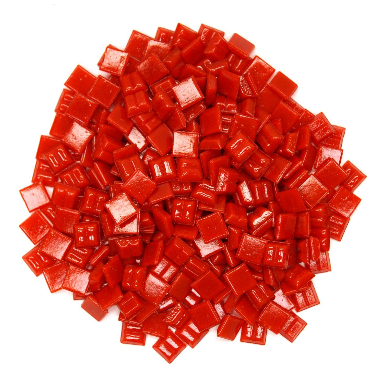 3/8 Tomato Glass Tile - 1 lb