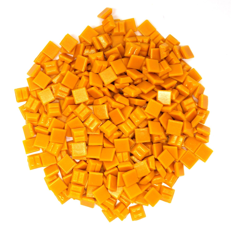 3/8 Pumpkin Glass Tile - 1 lb