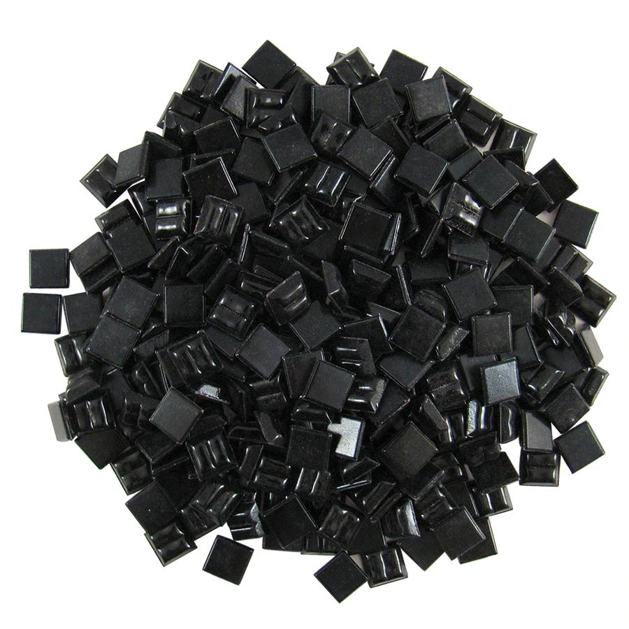 3/8 Black Glass Tile - 1/2 lb