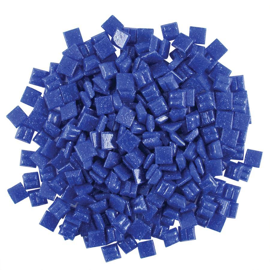 3/8 Royal Blue Glass Tile - 1/2 Lb