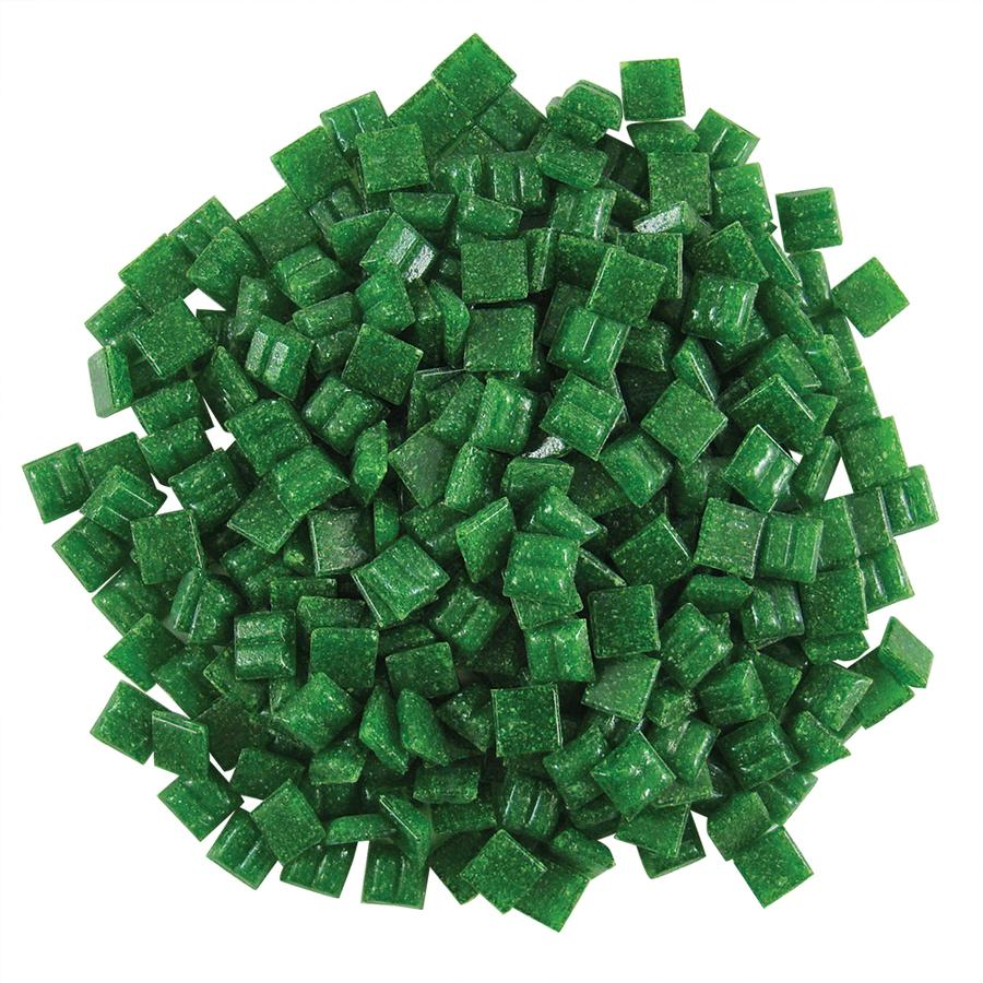 3/8 Evergreen Glass Tile - 1 lb