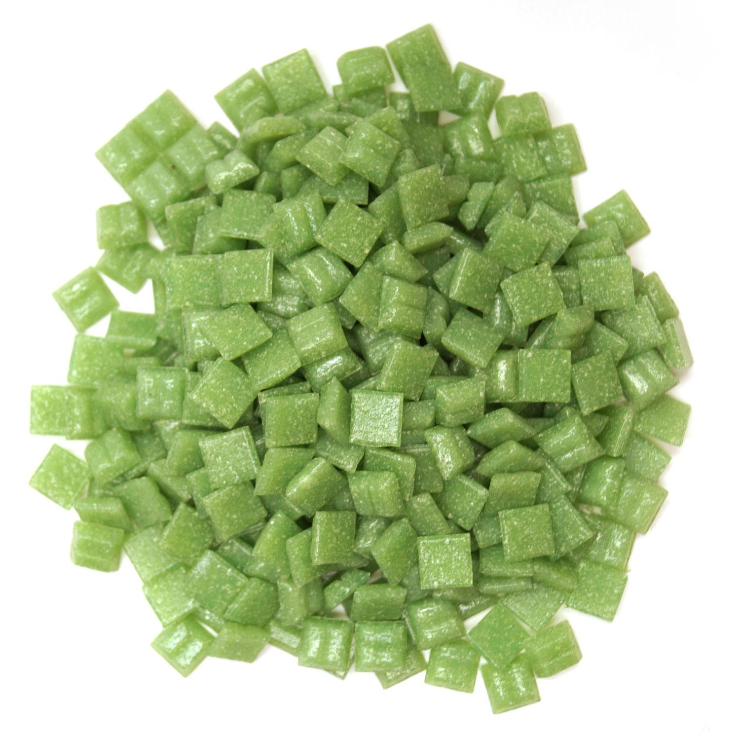 3/8 Lime Glass Tile - 1 Lb