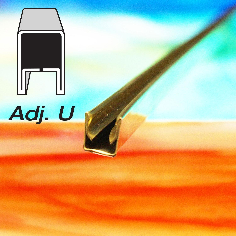 9/32 Adjustable U Brass Came - Strip