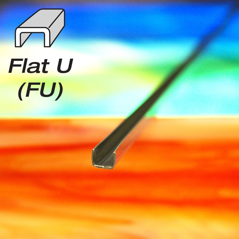 1/8 Flat U Zinc Came - Strip