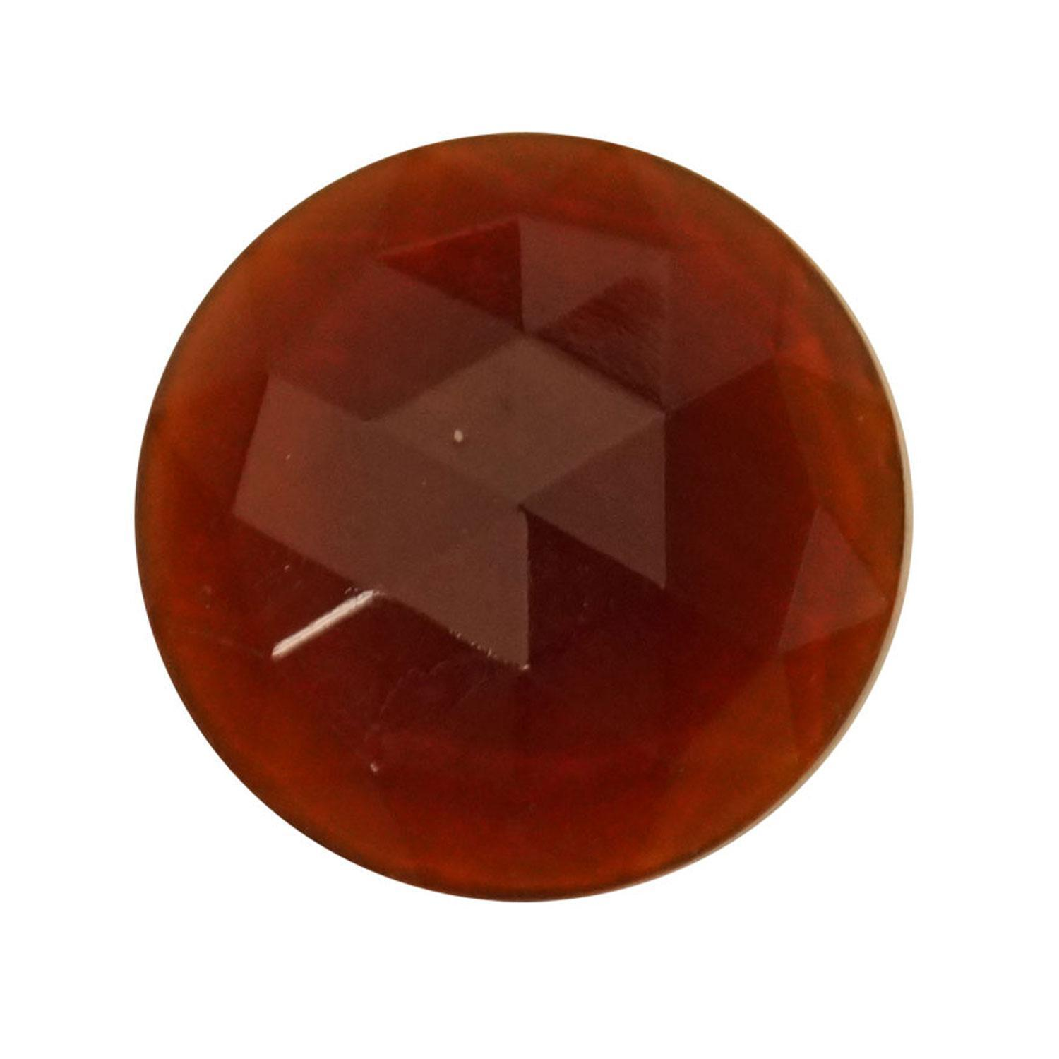 Round Amber 25mm Faceted Jewel