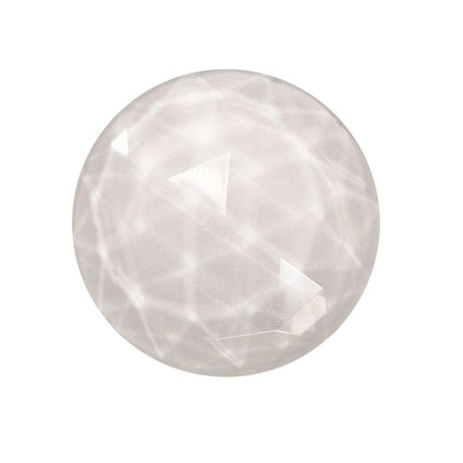 Clear Round 20mm Faceted Jewel