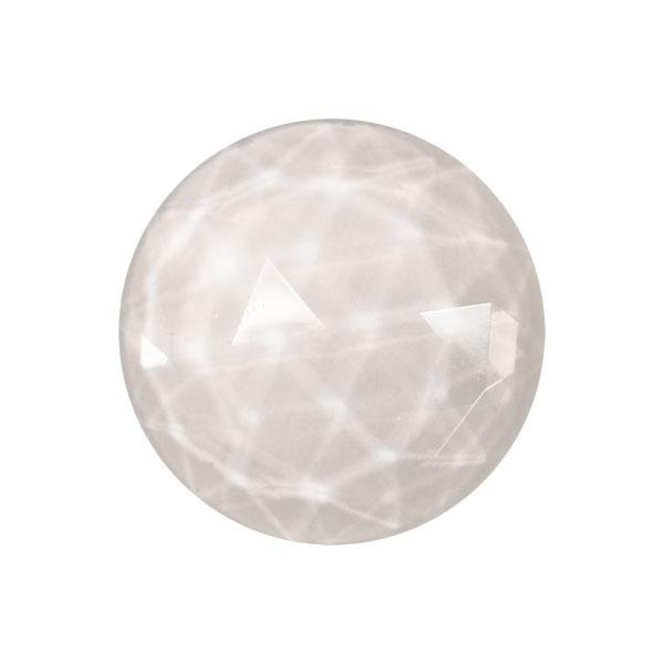Clear Round 30mm Faceted Jewel