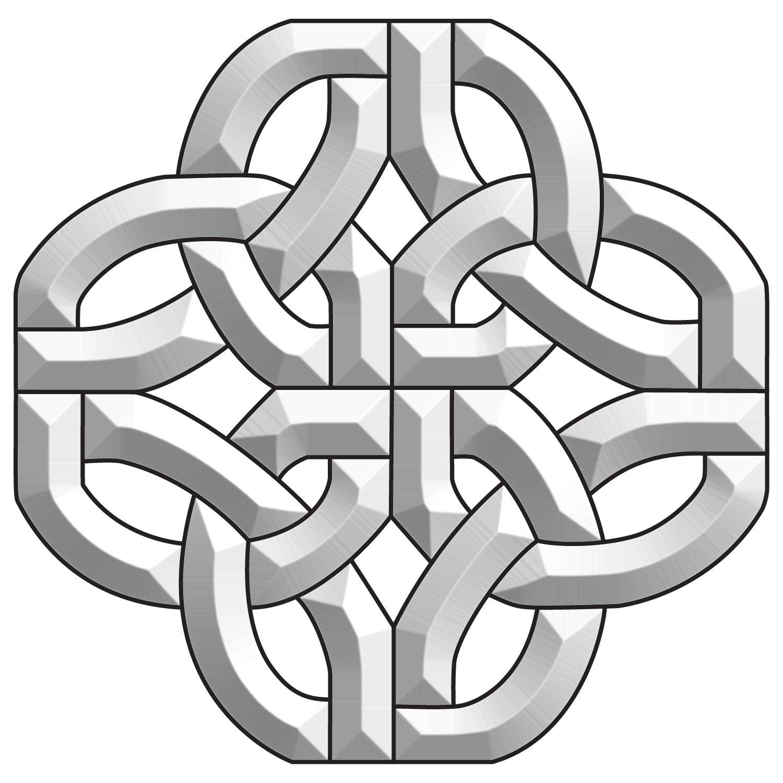 Celtic Knot Bevel Cluster