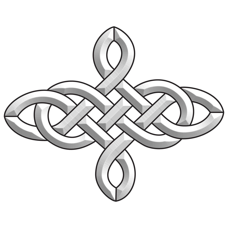 4 Point Celtic Knot Bevel Cluster
