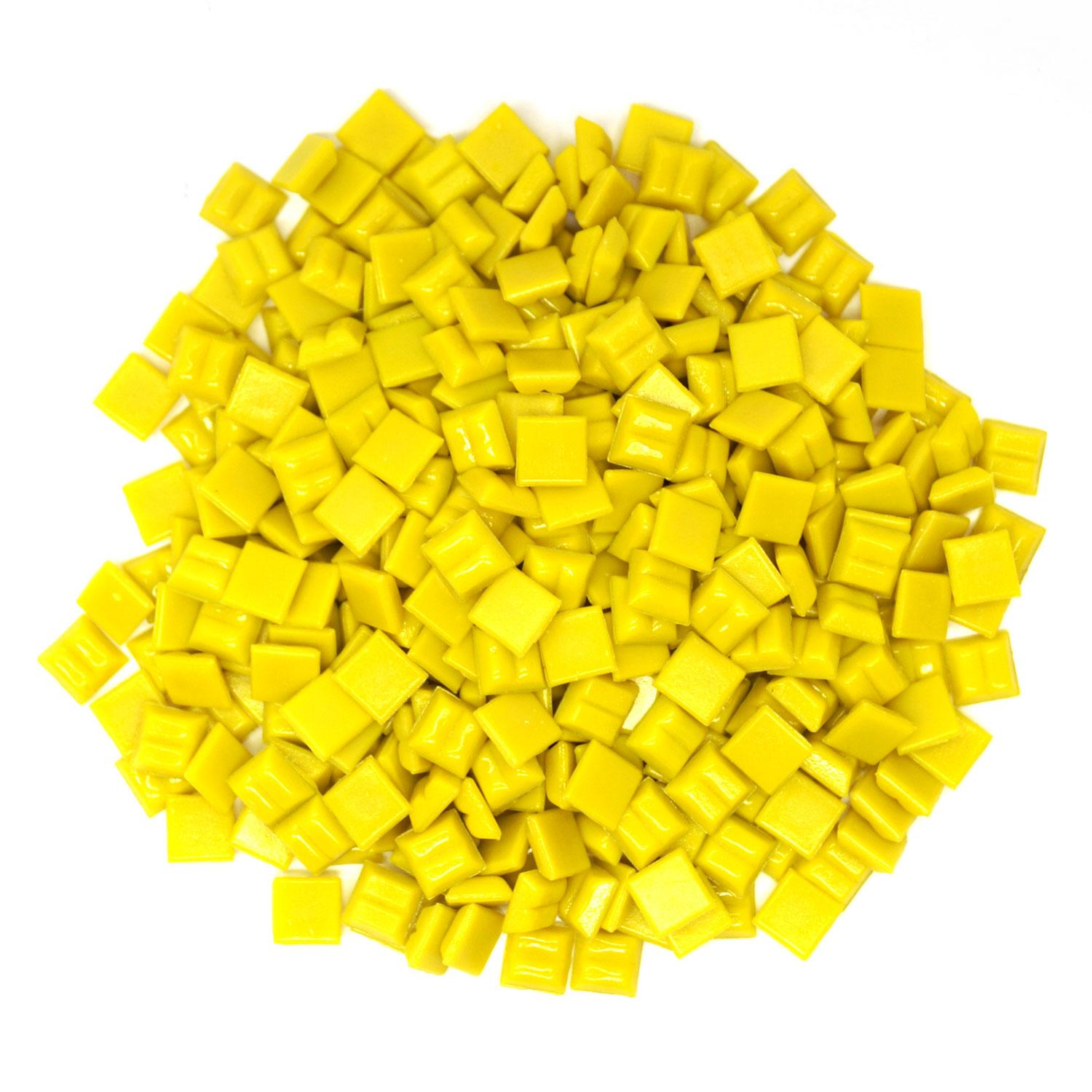 3/8 Canary Glass Tile - 1 lb