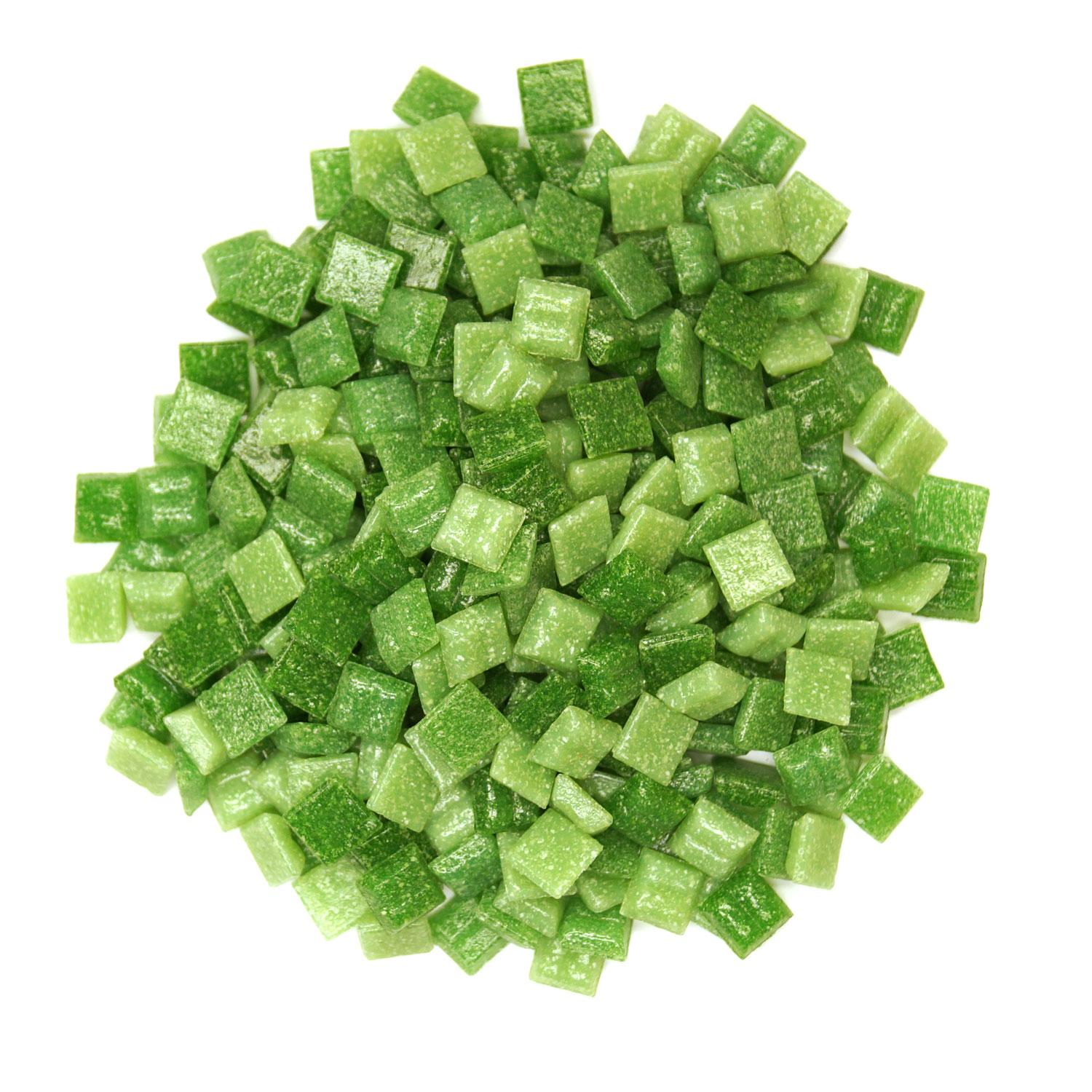 3/8 Grassy Greens Glass Tile Mix - 1/2 lb