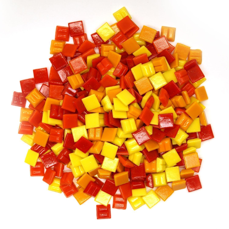 3/8 Fire Glass Tile Mix - 1/2 lb