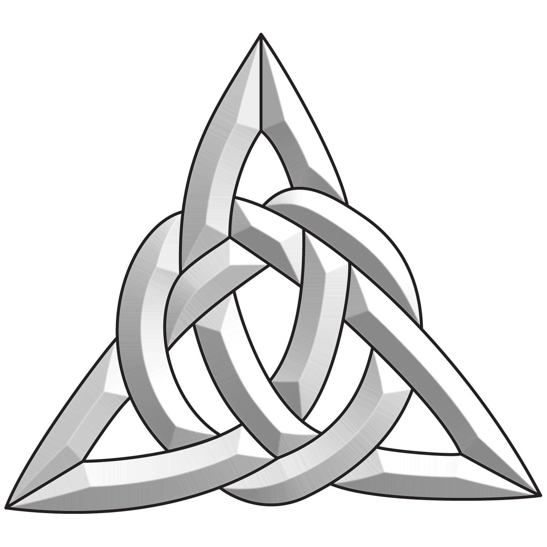 Celtic Triangle Bevel Cluster