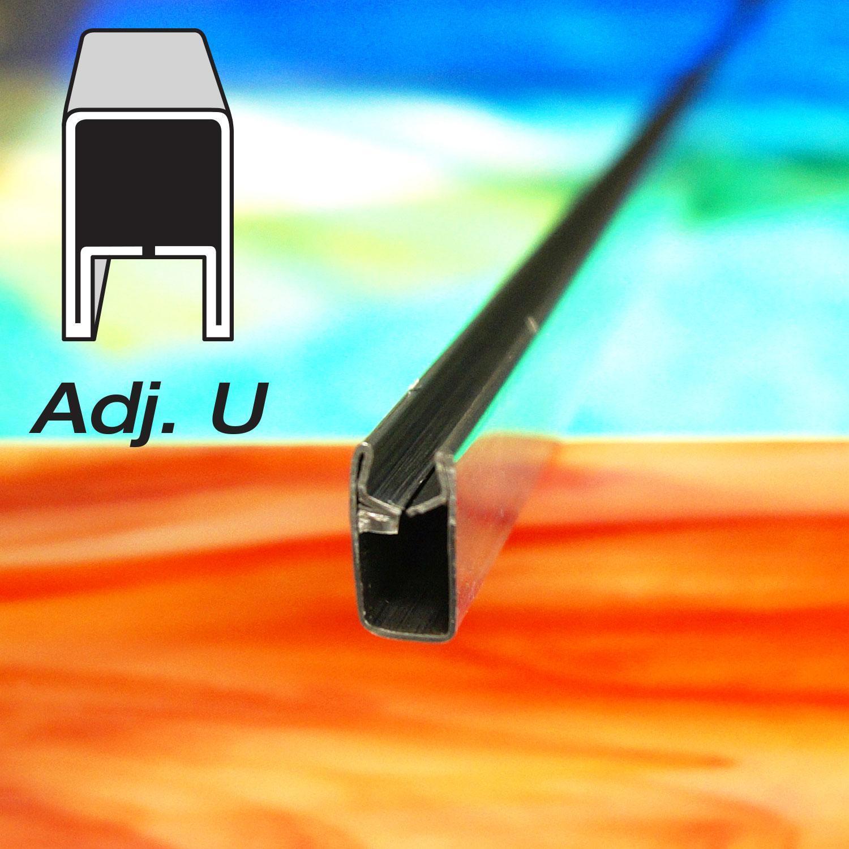 1/2 Adj U Zinc Came - 6 ft Piece