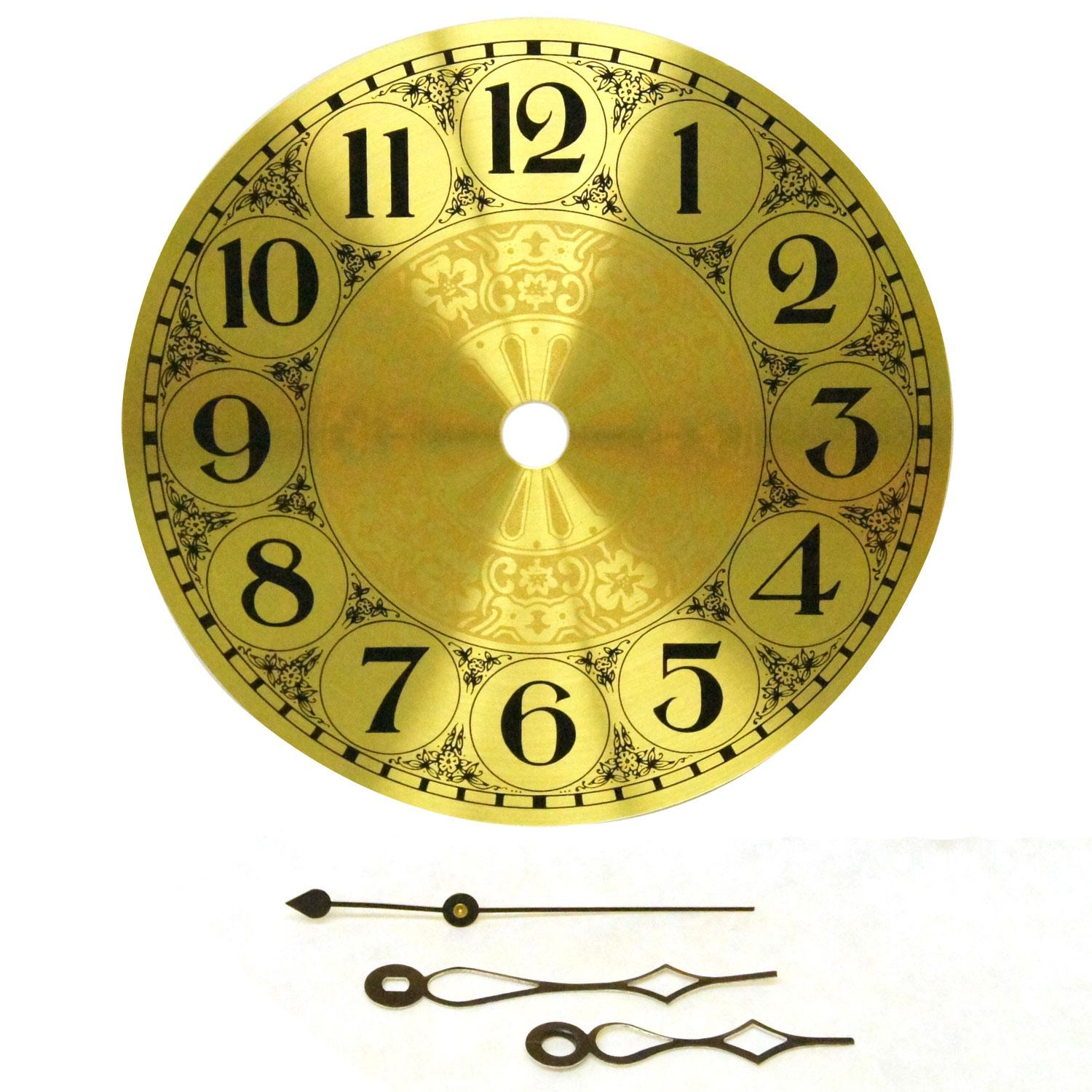 "Stained Glass Supplies Clarity 7/"" Brass Clock Face With Hands"