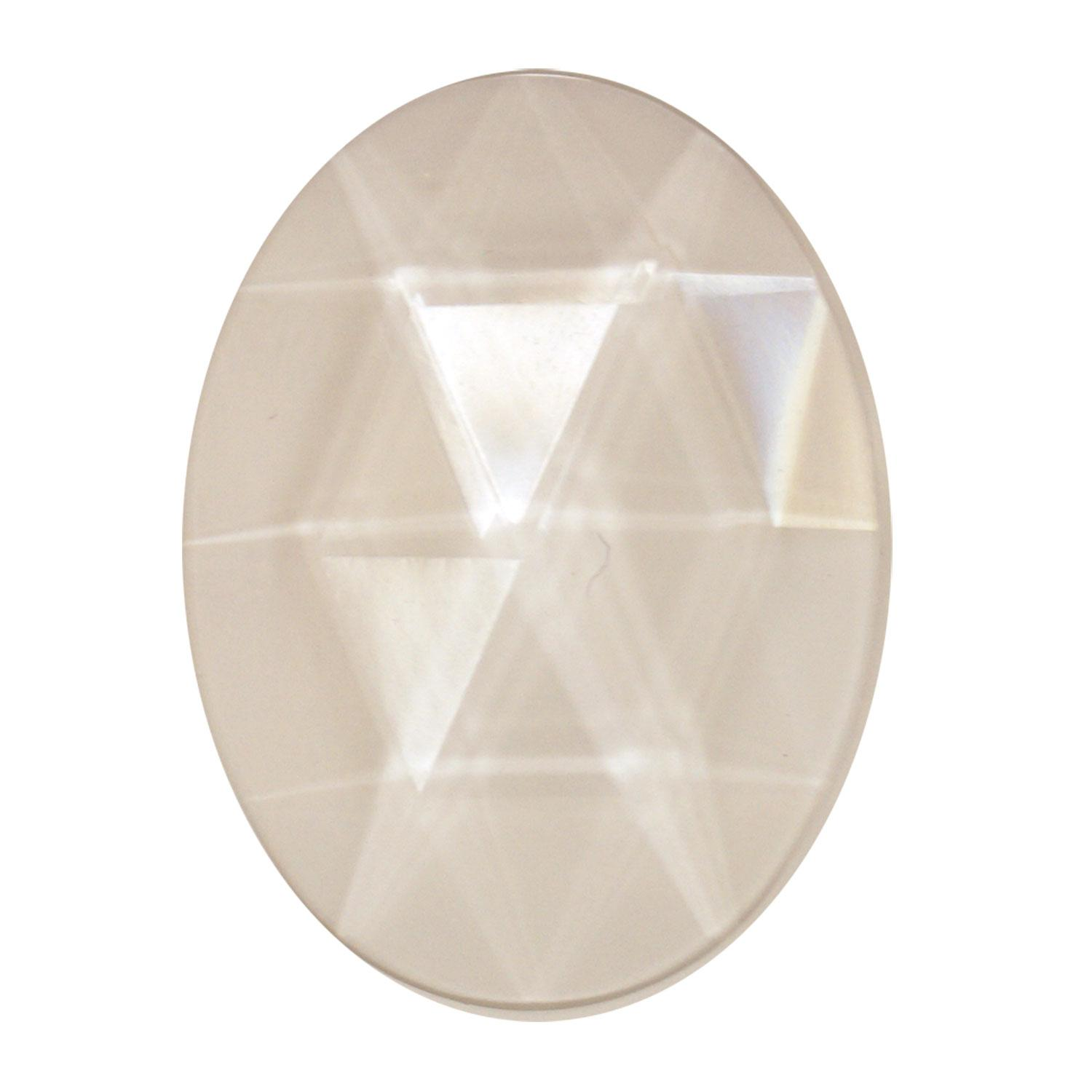 30mm x 40mm clear faceted jewel