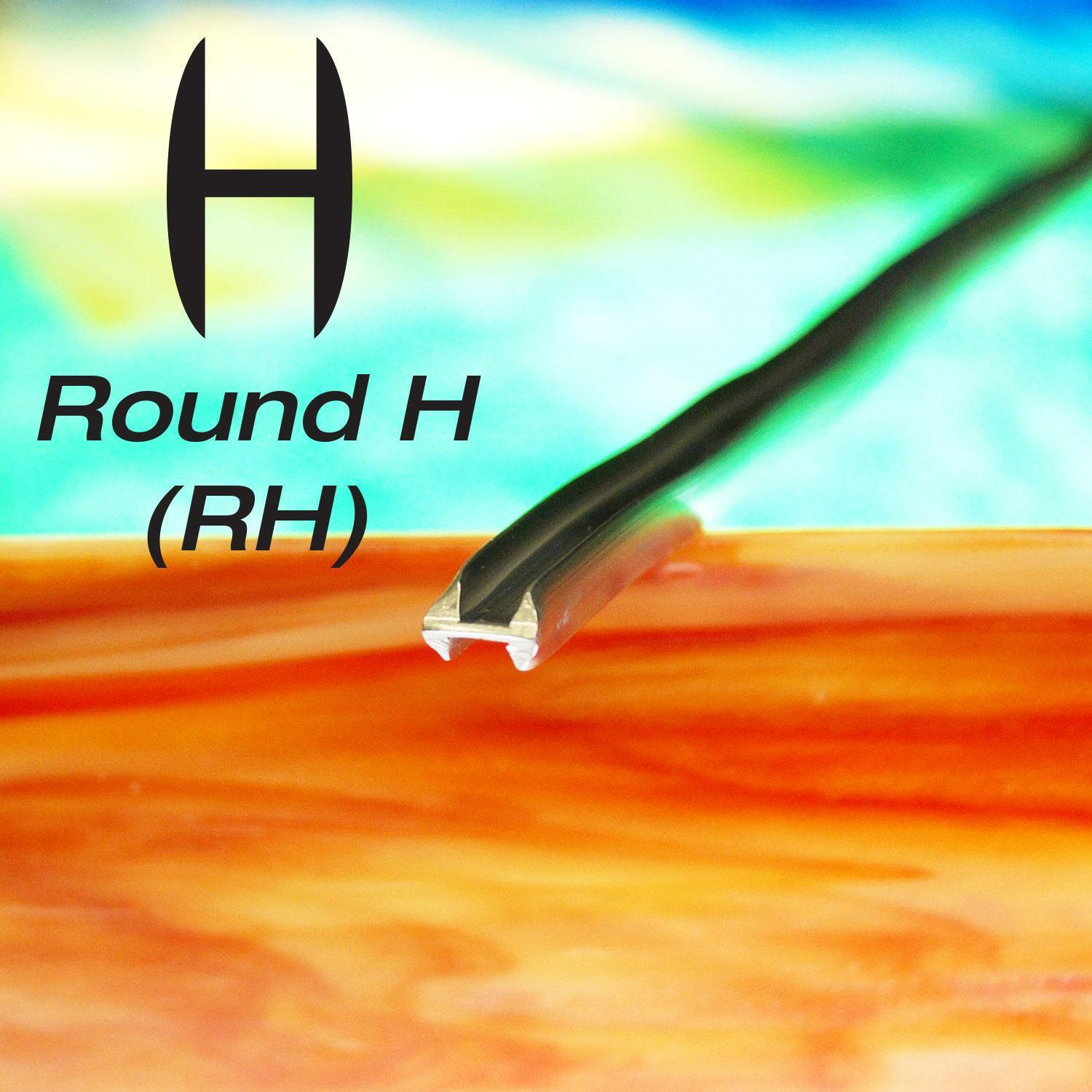 1/4 Round H Lead Came – 6 ft Piece
