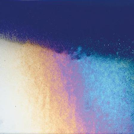 Bullseye Midnight Blue Rainbow Iridized Thin - 90 COE