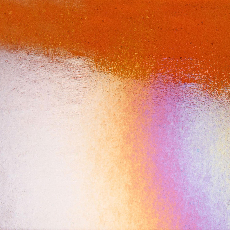Bullseye Bright Orange Striker Rainbow Iridized Thin - 90 COE