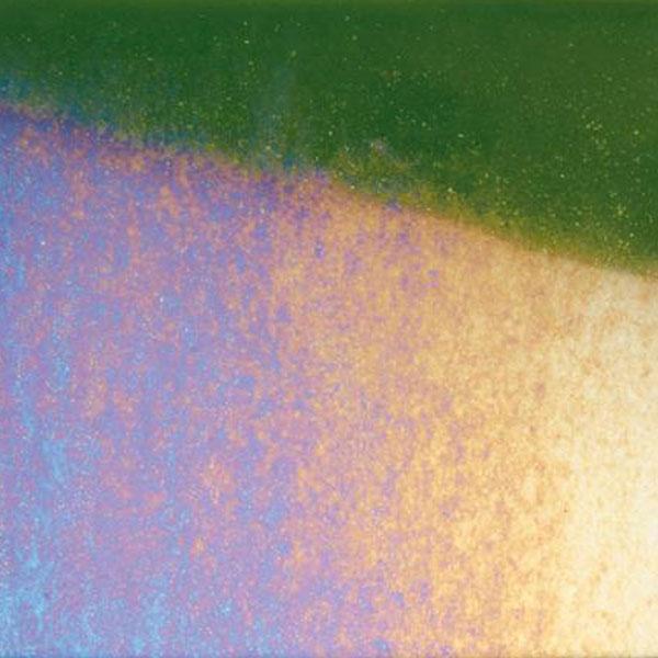 Bullseye Light Aventurine Green Rainbow Iridized Thin - 90 COE