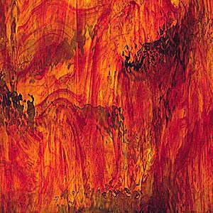 Spectrum Ruby Red/ Amber Streaky Waterglass
