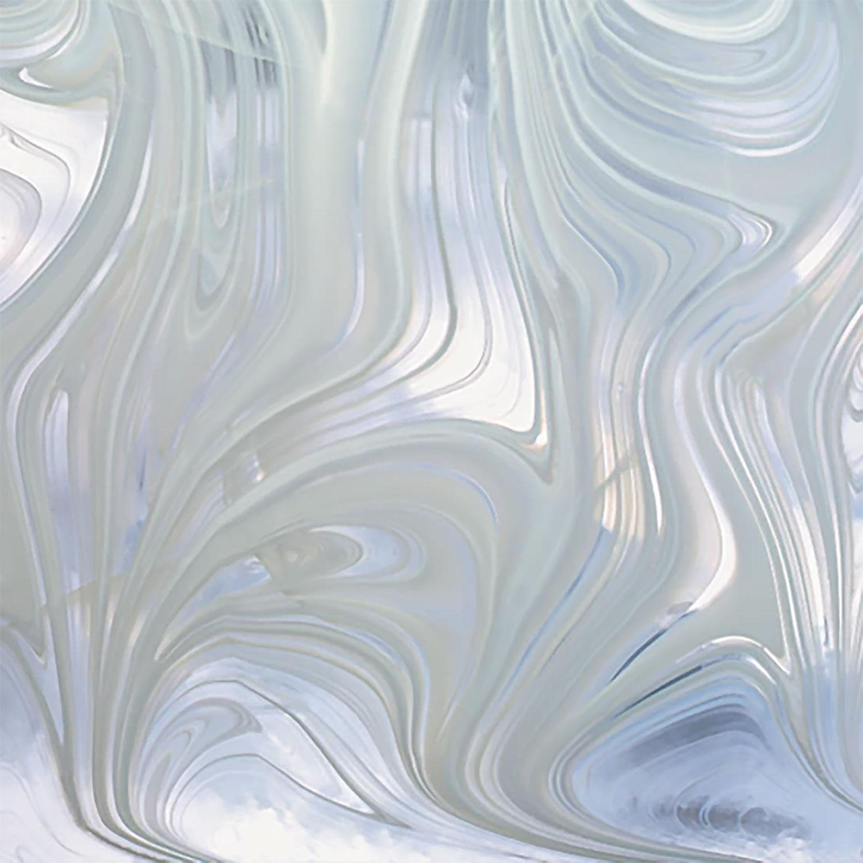 Oceanside White on Clear Baroque